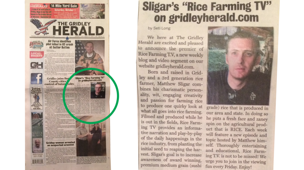 Gridley Herald Butte County Rice Grower
