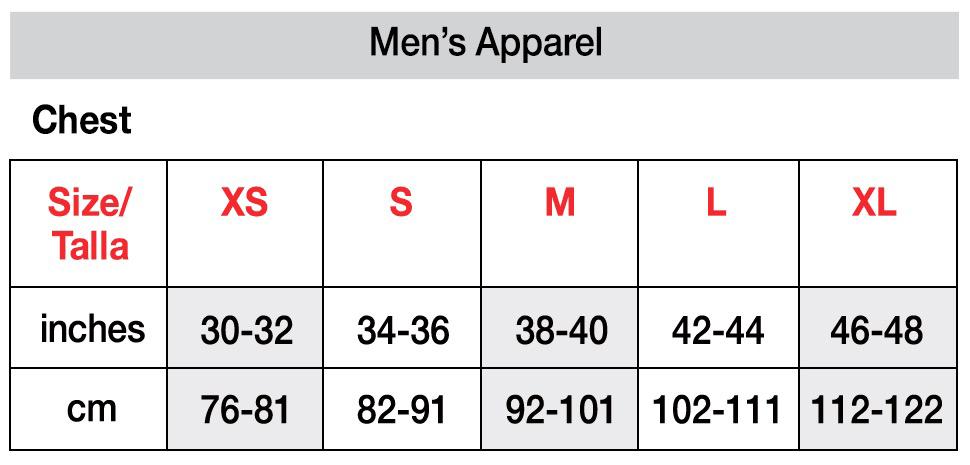 Hanes Size Chart